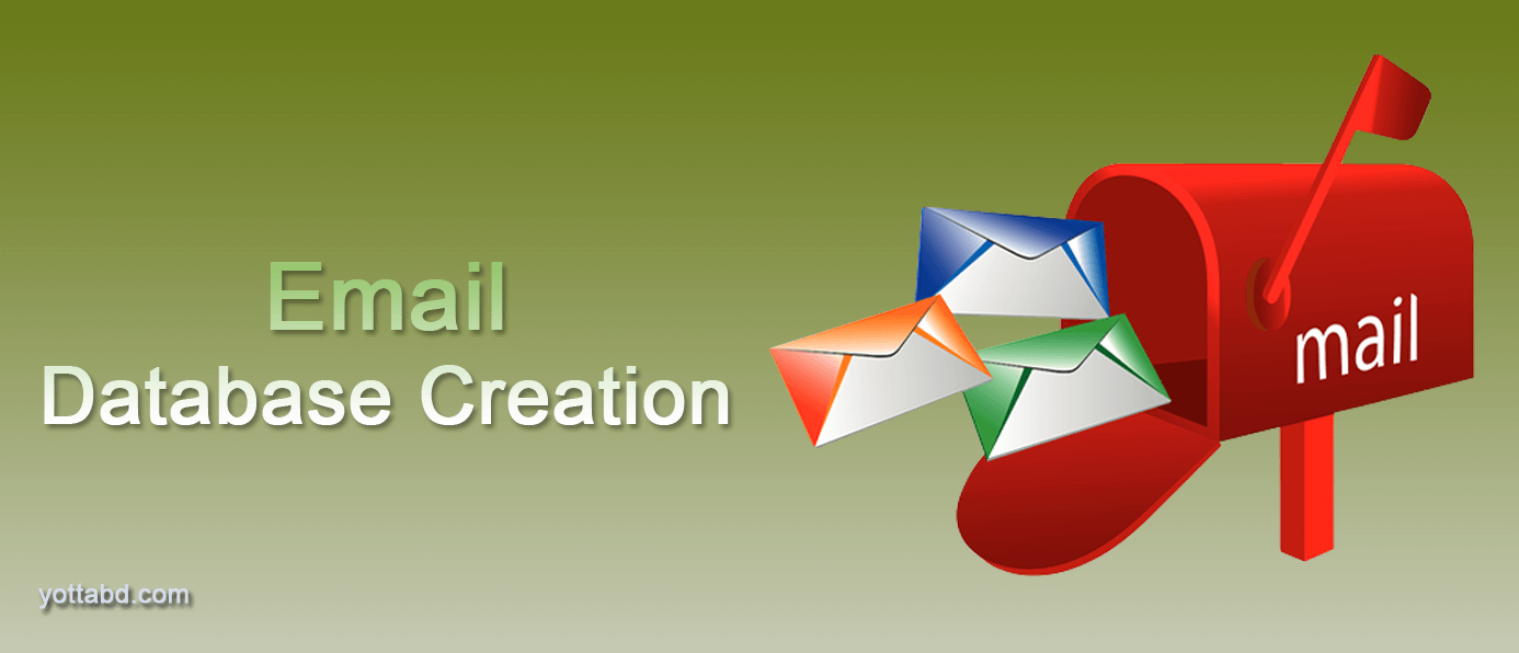 Email list database creation